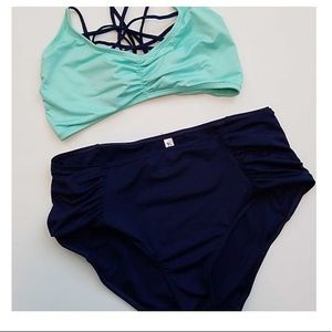 Aqua Highwaisted Bikini